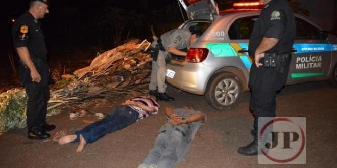 Oito pessoas foram feitas reféns em Rialma, houve troca de tiros