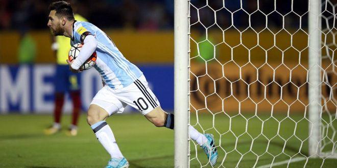 Messi marca três e coloca Argentina na Copa