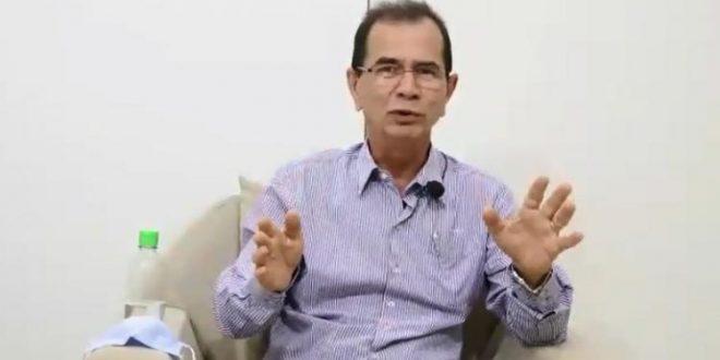Prefeito de Rubiataba grava vídeo como acabar com a covid-19 e diz não precisar fechar comércio