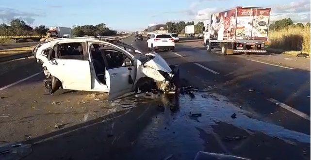 Oficial da Base Aérea de Anápolis fica gravemente ferido após acidente na BR-060