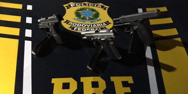 Empresários de Barro Alto são  detidos na BR 080 por porte ilegal de armas de fogo