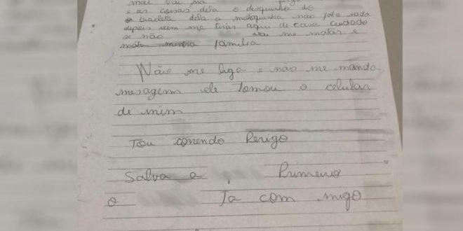 Jovem que era agredida pelo ex pede socorro por meio de carta entregue a leiteiro, em Goianésia