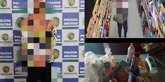 Mulher é presa após furtar estabelecimento na região comercial de Jaraguá