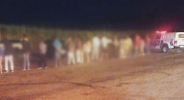festa às margens da GO-438, saída para Santa Rita do Novo Destino é desarticulada pela Policia Militar de Goianésia