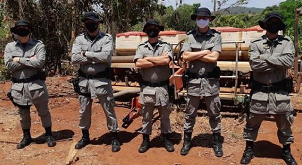 Gado furtado em Bela Vista é recuperado na zona rural de Goianésia pelo Batalhão Rural