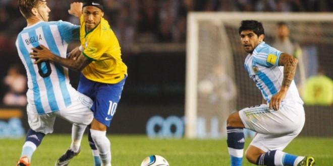 Brasil busca empate com Argentina