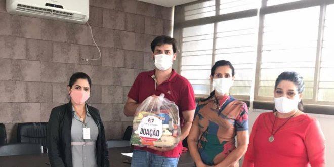 A Mineradora TERRA GOYANA faz  doação de 400 cestas básicas  para Secretária de Promoção de Barro Alto