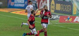 """Flamengo x Fluminense: na saída para o intervalo, Diego dá bronca em Gabigol: """"Para com essa p…"""""""
