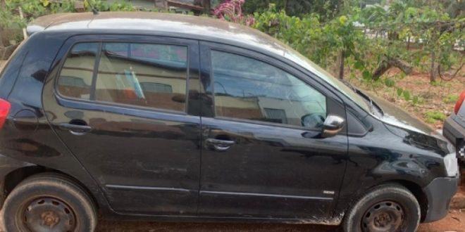 Polícia Militar recupera em Carmo do Rio Verde carro roubado em 2016